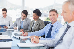 Business team during meeting Royalty Free Stock Images