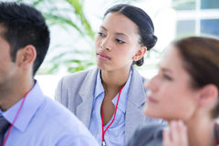 Business team during a meeting Stock Image