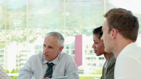 Business team during meeting stock footage