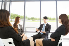 Business team meeting in the office with beautiful background Royalty Free Stock Photo