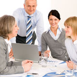 Business team meeting people around table Royalty Free Stock Images