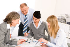 Business team meeting people around table Stock Photography