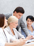 Business team at the meeting stock image
