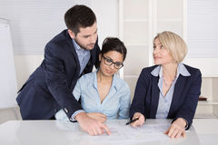 Business team in meeting searching solutions. Royalty Free Stock Photo