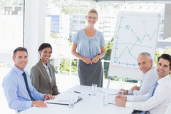 Business team during meeting smiling at camera Royalty Free Stock Photos