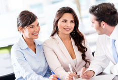 Business team in a meeting Stock Image