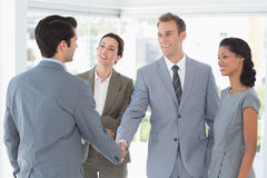 Business team meeting their partner Stock Images