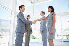 Business team meeting their partners Royalty Free Stock Photos
