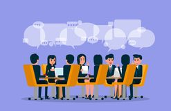 Business team meeting. Vector illustration of meeting. Brainstor vector illustration