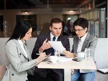 Business team at a meeting Stock Photo