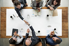Business Team Meetng Handshake Applaud Concept Royalty Free Stock Images