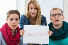 Business team missing a deadline Royalty Free Stock Photography