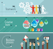 Business team. Modern vector illustration concept. Teamwork. Business process. Creative team. The file is saved in the version AI10 EPS. This image contains royalty free illustration