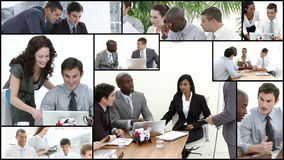 Business team stock video