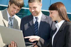 Business team near office centre Royalty Free Stock Photography