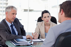 Business team negotiating with a customer Royalty Free Stock Photography