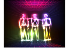 Business team, neon collection Royalty Free Stock Photos