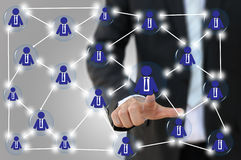 Business or team network Stock Photo