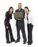 Business team with notebook Royalty Free Stock Photo