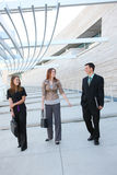 Business Team at Office. An attractive men and women business team at the office royalty free stock images