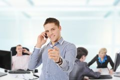 Business team in an office Royalty Free Stock Photography