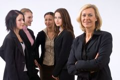 Business team in office stock photography