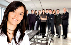Business team in an office Stock Photo