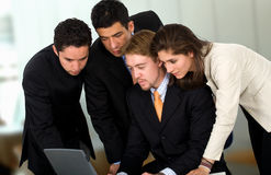 Business team in an office Royalty Free Stock Photo