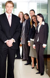 Business team in an office Royalty Free Stock Images