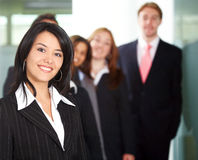 Business team in an office Stock Image