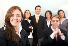Business team in an office Royalty Free Stock Image