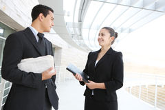 Business Team at Office Building Royalty Free Stock Photos