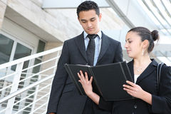 Business Team at Office Building Royalty Free Stock Photography