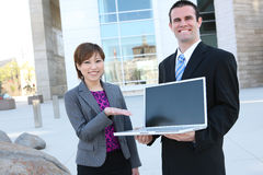 Business Team at Office Building Stock Photo