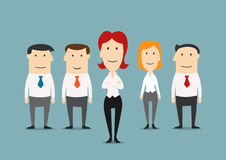 Business team of office clerks with boss Stock Image