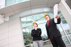 Business Team at Office Construction Site Royalty Free Stock Photo