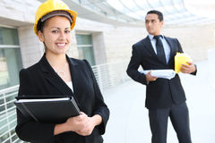 Business Team at Office Construction Site Stock Photo