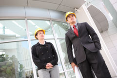 Business Team at Office Construction Site Royalty Free Stock Image
