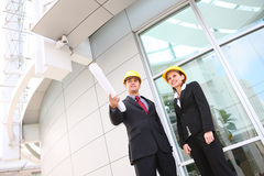 Business Team at Office Construction Site Royalty Free Stock Photography