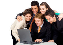 Business team in an office lap Royalty Free Stock Photos