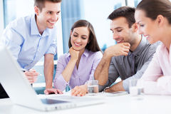 Business team at the office stock photography