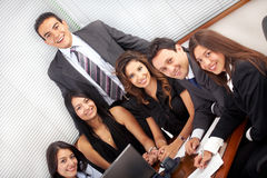 Business team in an office laptop Stock Photos
