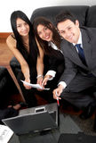 Business team in an office laptop Royalty Free Stock Photo