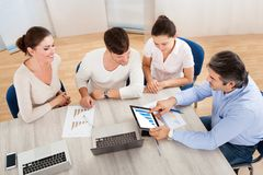 Business team in office meeting Stock Images