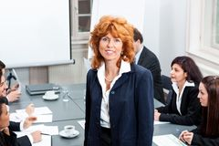 Business team in office meeting presentation Stock Photo