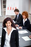 Business team in office meeting presentation Royalty Free Stock Photo
