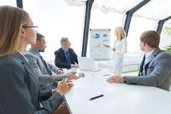 Business team at office presentation Stock Photo