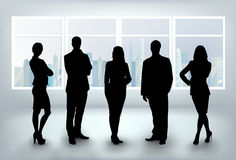 Business team in office royalty free illustration