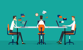Business team online working concept Stock Photo