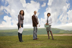 Business team outdoors Stock Photography